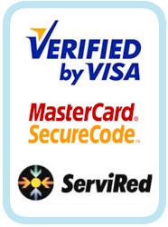 Pagos seguros avalados por Servired, Visa y MasterCard